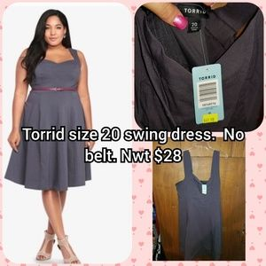 Torrid grey swing dress